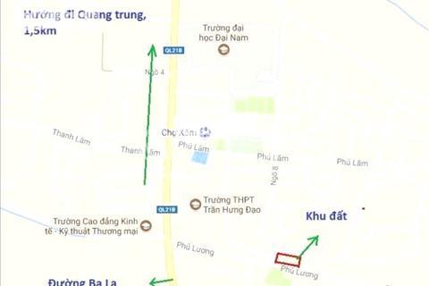 Bán đất đấu giá khu Quang Lãm, Phú Lãm, quận Hà Đông - Chỉ Từ 1 tỷ / lô