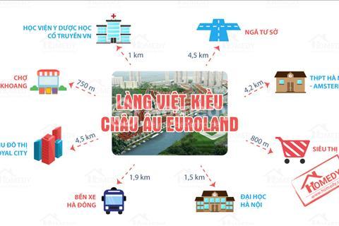 Bán căn hộ tại Làng Việt Kiều Châu Âu, giá 25 triệu/ m2 có thương lượng