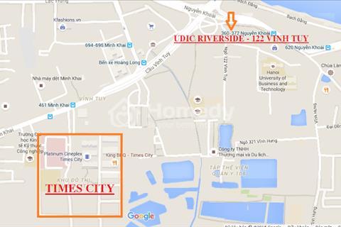 Cần bán căn 3 phòng ngủ, 87,3 m2 chung cư 122 Vĩnh Tuy, gần Times City, full nội thất