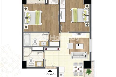 Bán căn hộ 69 m2, thiết kế 2 phòng ngủ - 2 WC, đóng 1,2 tỷ có thể nhận nhà vào ở luôn