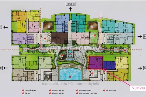 Bán căn hộ Cosmo City tốt nhất Phú Mỹ Hưng bên dưới là 3 tầng big C giá 28 triệu/m2