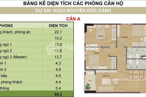 Tôi bán căn hộ 0403 - H2 dự án HUD3 Nguyễn Đức Cảnh, bán rẻ lấy tiền gốc
