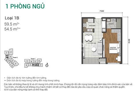 Bán căn hộ Estella Heights, 1 phòng ngủ, 60 m2, bàn giao hoàn thiện, giá 2,8 tỷ