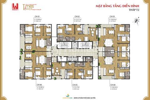 Bán lỗ chung cư Time Tower, căn 1504 - T2, diện tích 127,4 m2 giá 30 triệu/ m2