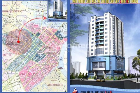 Cho thuê căn Sông Đà Tower, quận 3, 106 m2, 3 ngủ, giá thuê 16 triệu/ tháng. Liên hệ Công