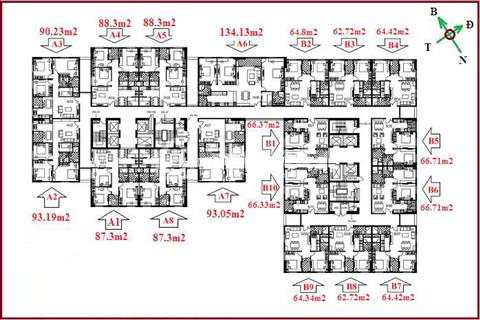 Cần bán căn 08 (62,72 m2) tháp B chung cư 122 Vĩnh Tuy, gần Times City, nhận nhà ngay