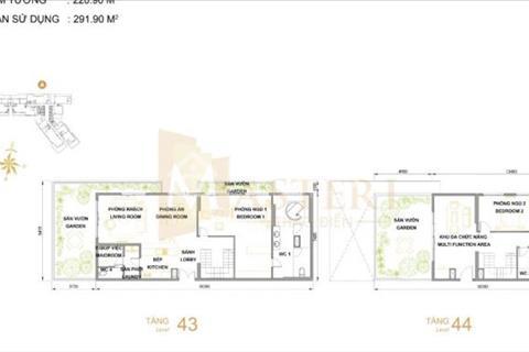 Bán căn hộ Penthouse Masteri Thảo Điền, tháp T5, diện tích 291 m2, gồm 3 phòng ngủ