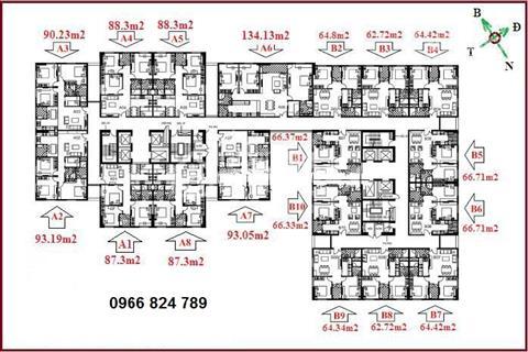 Bán căn số 3 tầng 16 diện tích 90,23 m2 chung cư Udic Riverside Vĩnh Tuy