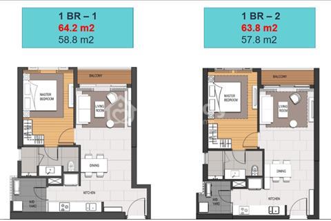 Bán căn 1 phòng ngủ diện tích 64 m2, thuộc tòa Linden – Empire City 88 tầng