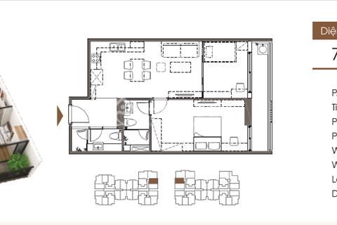 Bán chung cư Five Star Kim Giang, 70,99 m2, tầng 1010- G2, giá 23 triệu/m2
