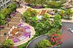 Khu công viên cây xanh và thể dụ thể thao: Vườn hoa bố trí ở đầu trục chính tạo điểm nhấn cảnh quan đẹp mắt khi bước vào cổng chào của khu ở.