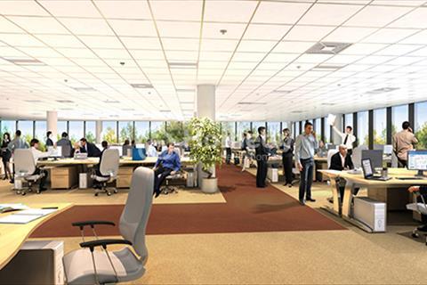 Cho thuê sàn văn phòng 100 m2 tại chung cư CT4 Vimeco Nguyễn Chánh, Cầu Giấy