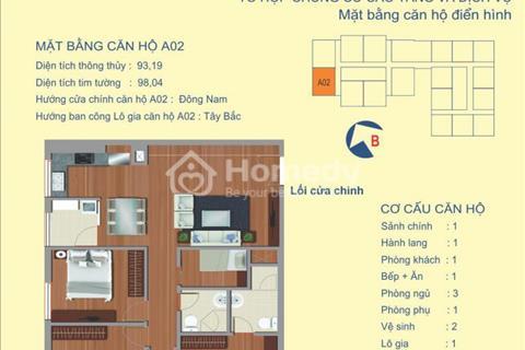 Bán gấp căn góc 1502 tòa A chung cư Udic 122 Vĩnh Tuy