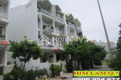 Nhà mặt tiền thuộc khu dân cư Him Lam, 5 x 20 m, trệt + 2,5 lầu, hầm, thang máy. Giá 55 triệu/tháng