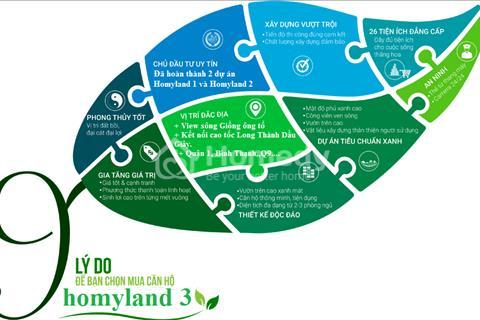 Căn hộ Homyland Riverside 3 mặt view sông Quận 2, giá bán 2 tỷ/căn, thanh toán 1%/tháng