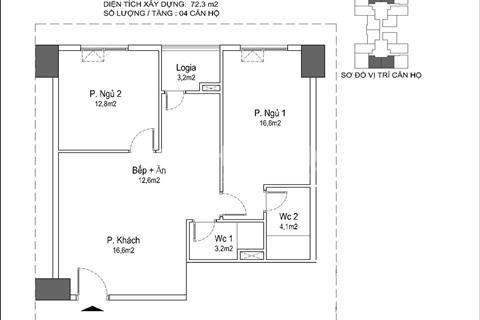 Cần bán gấp chung cư Eurowindow River Park 72,9 m2