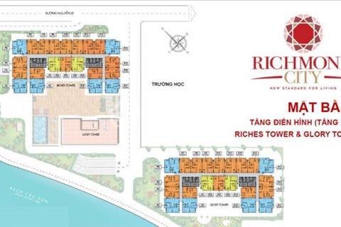 Chính chủ bán Richmond City, tầng đẹp, giá 1,7 tỷ/căn 66m2, 2 phòng ngủ