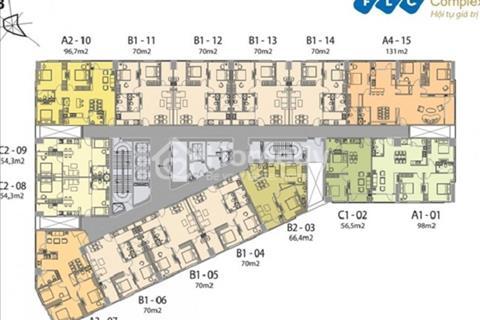 Bán gấp chung cư FLC 36 Phạm Hùng tầng 1501: 96,8 m2 và tầng 1904: 69,8 m2. Giá 25 triệu/m2