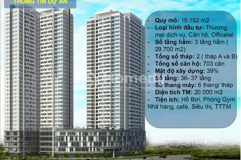 Sunrise Cityview 2 phòng ngủ, 2 wc - 74 m2. Chỉ 35,8 triệu/m2