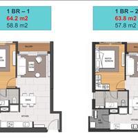 Bán lỗ căn hộ 1 phòng ngủ, 64m2, tòa MU4 Empire City Quận 2, tầng trung view sông, giá rẻ