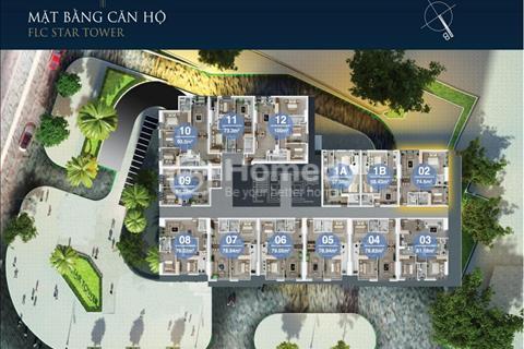 Bán cắt lỗ sâu căn 2 phòng ngủ, FLC 418 Quang Trung, 1,2 tỷ, 61 m2, sổ đỏ, tháng 10 bàn giao