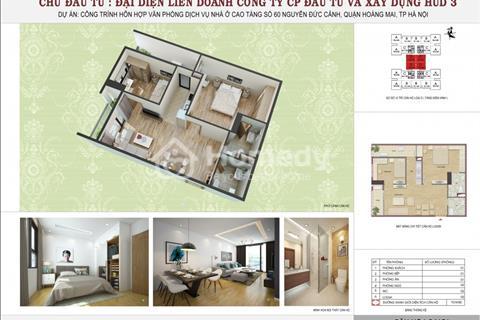 Tôi thanh lí căn 2 phòng ngủ 70,14 m2 chung cư HUD3 Nguyễn Đức Cảnh, giá 23 triệu/m2