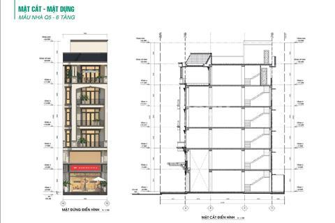Bán nhà phố 7 x 20 m, ck 7,7%. Tặng nội thất 360 triệu