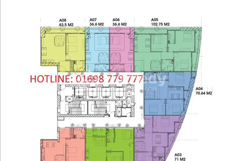 Bán căn hộ officetel tòa A3 chung cư Ecolife Capitol 58 Tố Hữu giá từ 23 triệu/m2