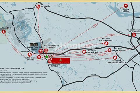 Mở bán đợt 1 lô đất nền đẹp nhất biệt thự Phú Cát City, CK 6%, Tặng 100 triệu