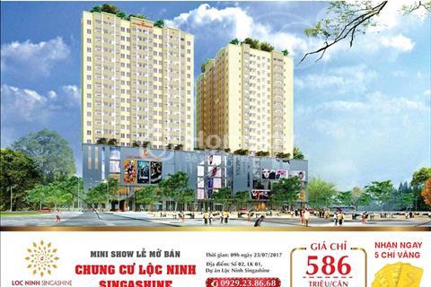 Chỉ 586 triệu sở hữu ngay chung cư Lộc Ninh Singashine với đầy đủ tiện ích cao cấp