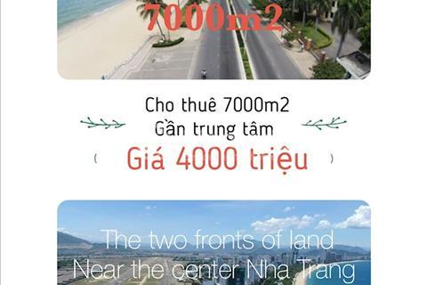 Cho thuê 7.000 m2 mặt bằng gần trung tâm TP Nha Trang