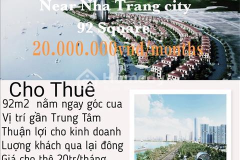 Cho thuê mặt bằng  ngay trung tâm TP Nha Trang