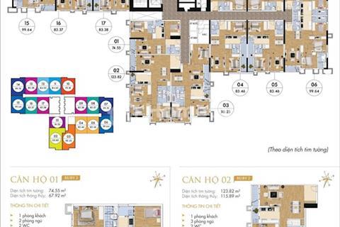 Cho thuê gấp căn hộ Goldmark City, 83,46 m2, căn 09, Ruby 2, 8 triệu/tháng
