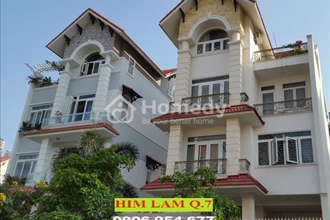 Định cư Pháp bán gấp biệt thự Quận 7, Him Lam Kênh Tẻ, phường Tân Hưng Quận 7, 10 x 20 m. Giá 27 tỷ