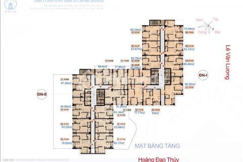 Cắt lỗ chung cư Hà Nội Center Point, 1508 - ĐN1 (79m2) và 1801 - ĐN2 (87,29m2), giá 31tr/m2