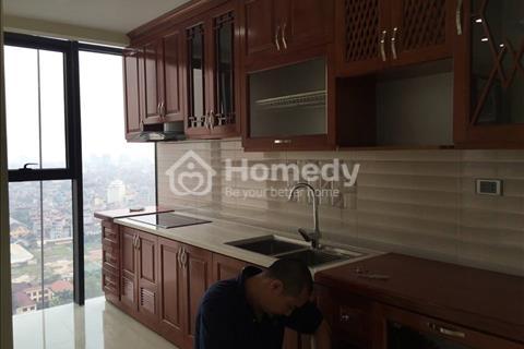 Cho thuê căn hộ chung cư 165 Thái Hà, 105m2 thiết kế 2 phòng ngủ, Full đồ giá 12tr/tháng