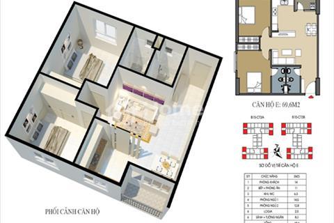 Chính chủ bán căn chung cư Ecohome 2 Đông Ngạc 69,6 m2