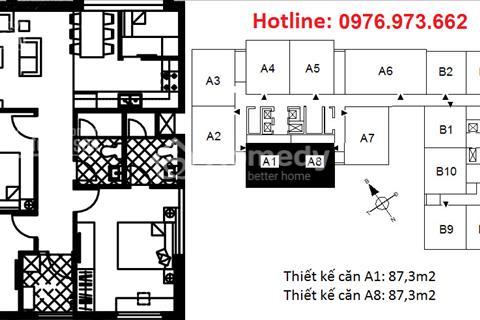 Bán gấp căn A5(88,3m2) T19 view Sông Hồng chung cư 122 Vĩnh Tuy full nội thất