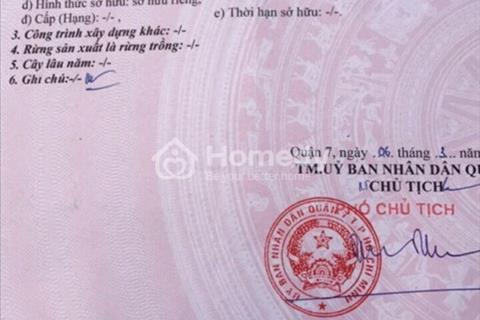 Bán gấp lô đất nền vị trí đẹp hẻm 1027 Huỳnh Tấn Phát, P. Phú Thuận, Quận 7
