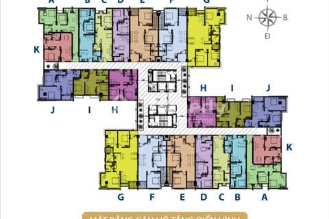 Căn hộ Võ Đình Apartment 54,28 căn 2 ngủ 2 wc  tầng 12 view đẹp nhận nhà ở liền không  lo rủi ro