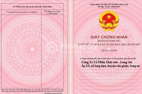 Đất nền khu dân cư Thái Sơn Long Hậu - Long An, giá chỉ 6,7 triệu/m2