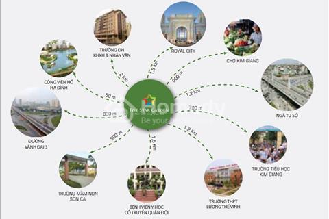 Cần bán gấp căn 10G5: 116,91 m2 chung cư Five Star - Thanh Xuân, cửa hướng Tây, 24tr/m2