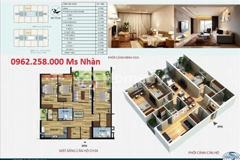 Chính chủ bán căn hộ 141m2 căn số 3A, 3B và 4A, 4B chung cư CT4 Vimeco, tầng sân vườn