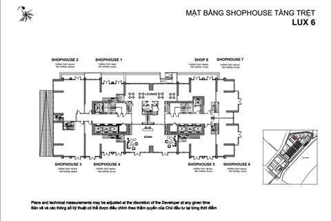 Cần bán shophouse Lux6 2 mặt tiền đẹp nhất dự án Vinhomes Bason Quận 1