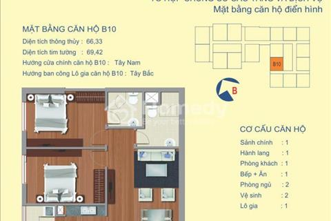 Chính chủ 122 Vĩnh Tuy bán căn chung cư -18B7 (64,42m2) Bán nhanh