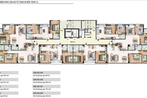 Bán căn hộ suất ngoại giao 103 m2 mặt phố Trung Kính giá chỉ 2,6 tỉ đồng