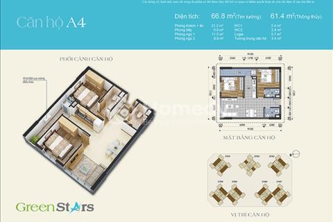 Bán gấp căn 66,8 m2 ban công ĐN chung cư Green Stars - giá tốt