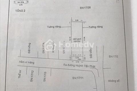 Bán gấp nhà đẹp 1 lầu hẻm 944 Huỳnh Tấn Phát, Tân Phú, Quận 7