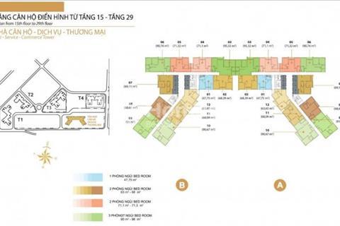 Cần bán căn hộ 2pn tháp t5-Marteri TĐ, 74 m2, view sông, giá 3,1 tỷ