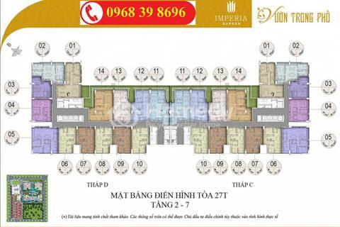 Bán gấp cc Imperia căn 1604: 80,7m2 và căn 1508: 120m2, giá 33 tr/m2 (gấp)